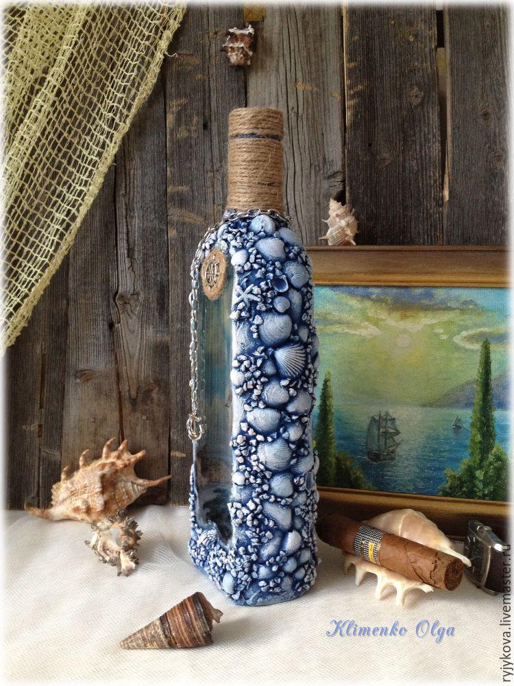 Декор бутылок своими руками: вдохновляющие идеи и поэтапные мастер-классы. декоративная бутылка «воспоминания о море декорирование бутылок в морском стиле своими руками