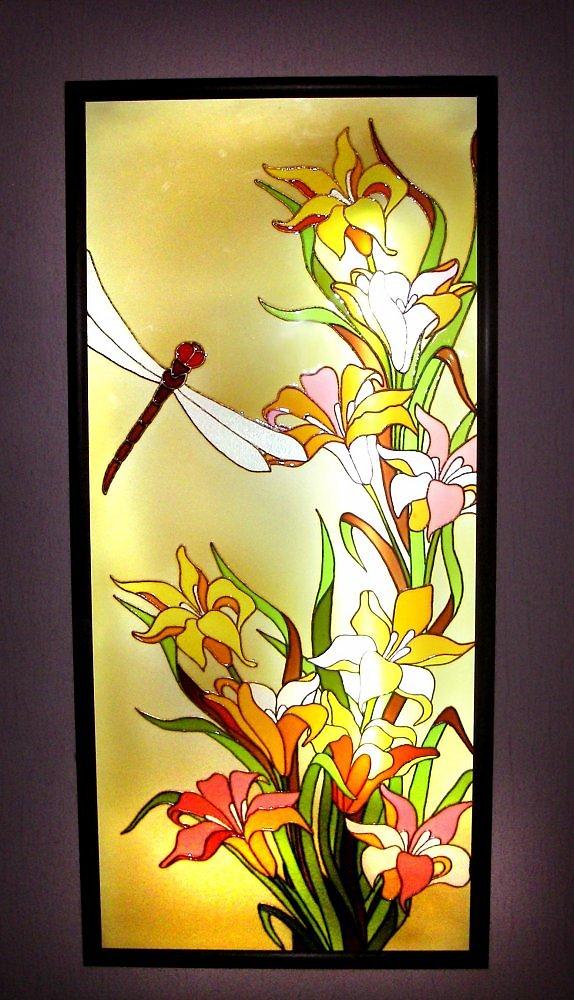 Изготовление витражей на цветном стекле своими руками