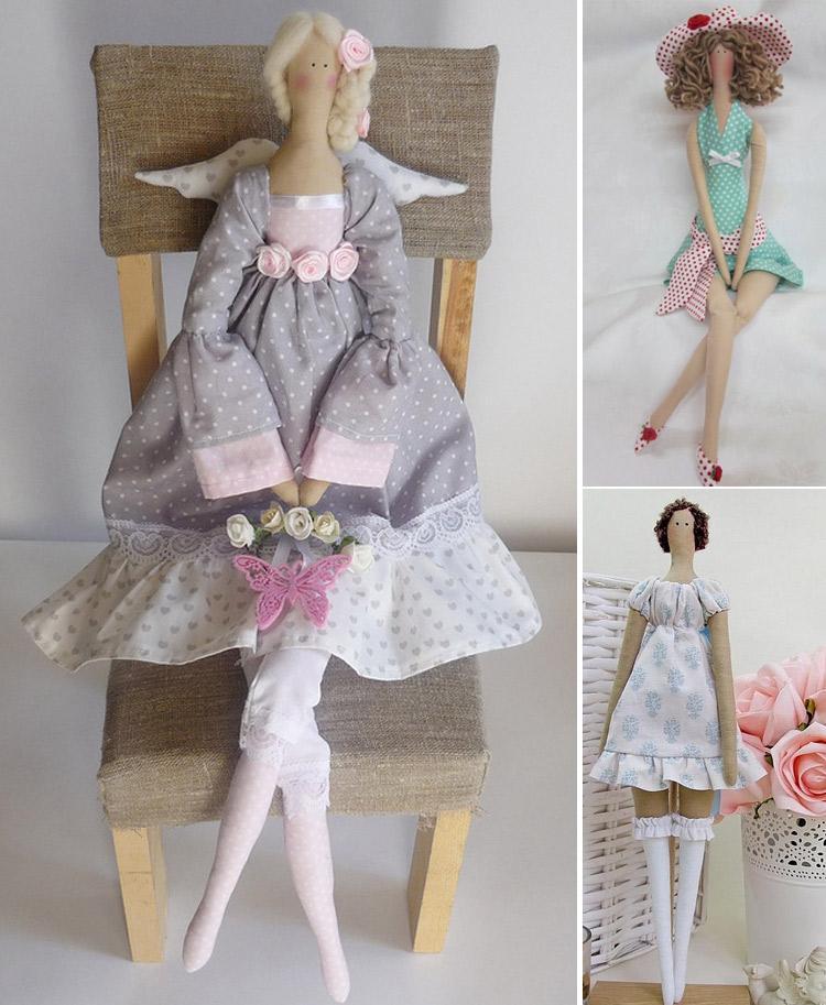 Одежда для текстильных кукол своими руками: выкройки, интерьерные куклы тильда и большеножка