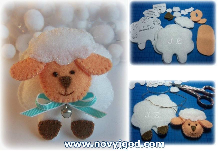 Новогодняя упаковка для подарка. овечка из меха. мастер-класс с пошаговыми фото
