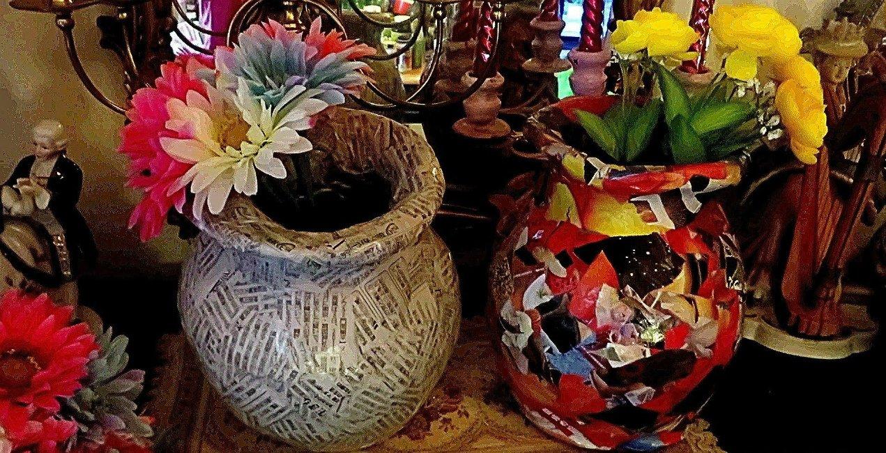 Напольная ваза из папье-маше. | страна мастеров