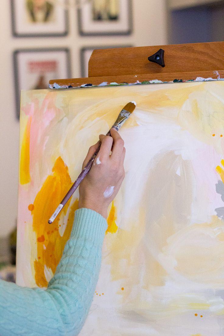 Рисуем портрет акриловыми красками