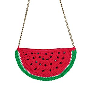 Детская сумочка крючком «арбуз. косметичка «арбузная долька круглая сумочка арбуз крючком схема