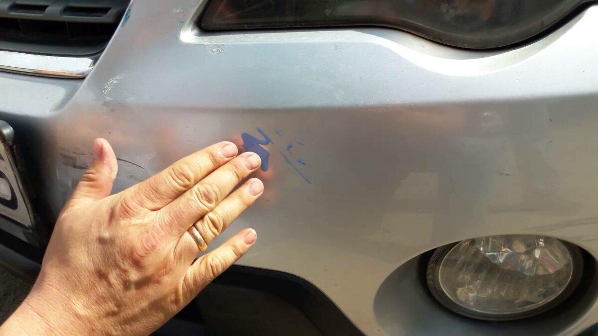 Удаление мелких царапин при полировке кузова авто