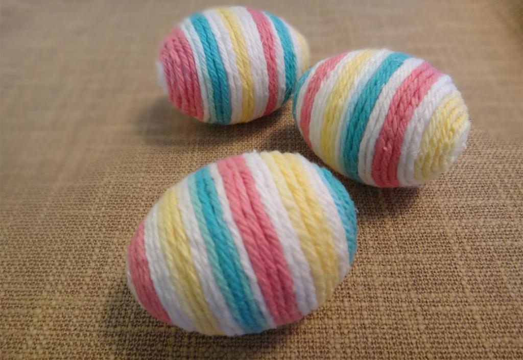 Яйца из ниток и клея пва чайник. пасхальные яйца своими руками: яйца из ниток. декоративное яйцо из ниток делаем с пенопластовой заготовки