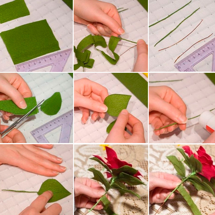 Бутон розы с конфетой из гофрированной бумаги своими руками мастер-класс фото видео