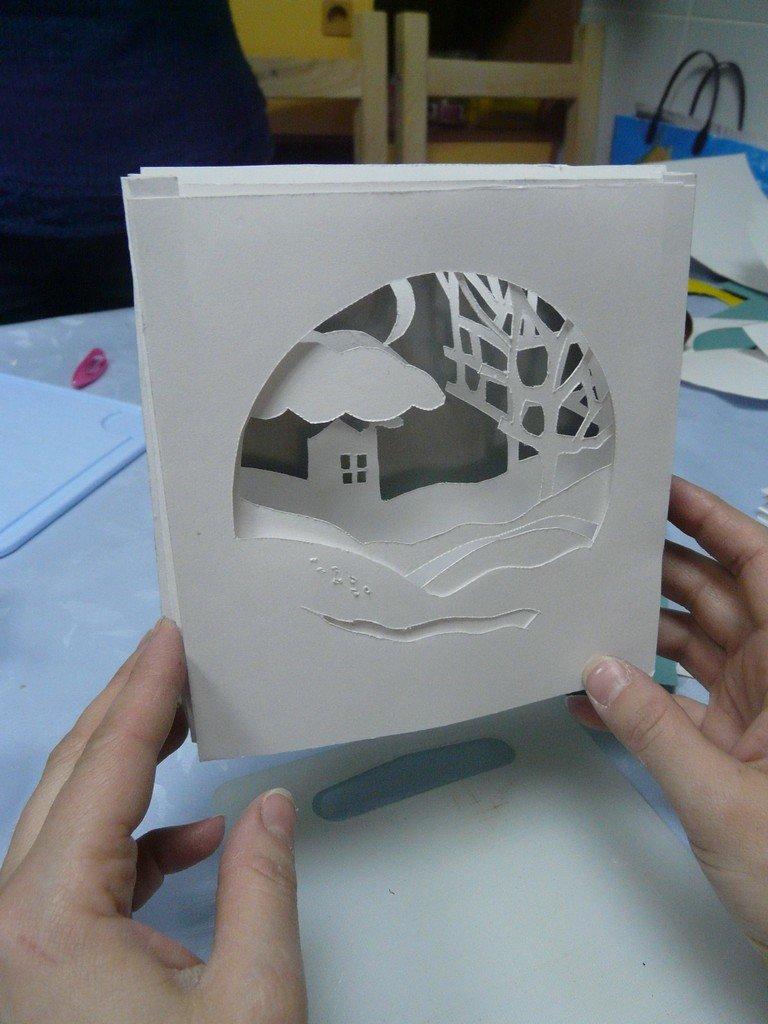 Как сделать бумажный куб-туннель