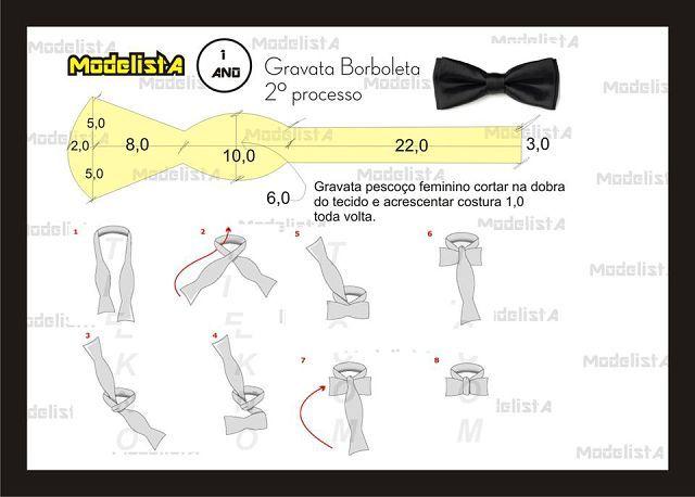 Мастер-класс по пошиву галстука-бабочки своими руками
