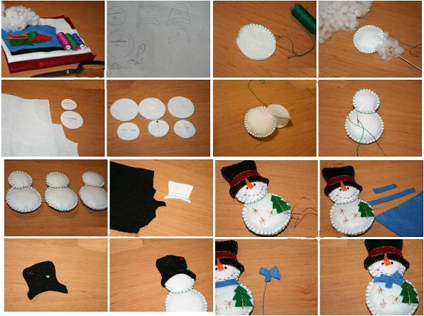 50 новогодних снеговиков – фото, мастер классы