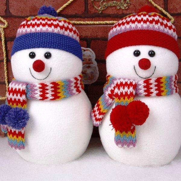 Как сделать снеговика своими руками из ваты на окно, в детский сад, из подручных материалов