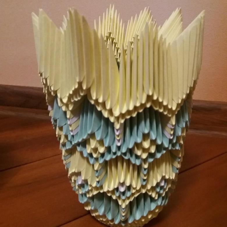 Ваза оригами из модулей: схема сборки и мк для начинающих