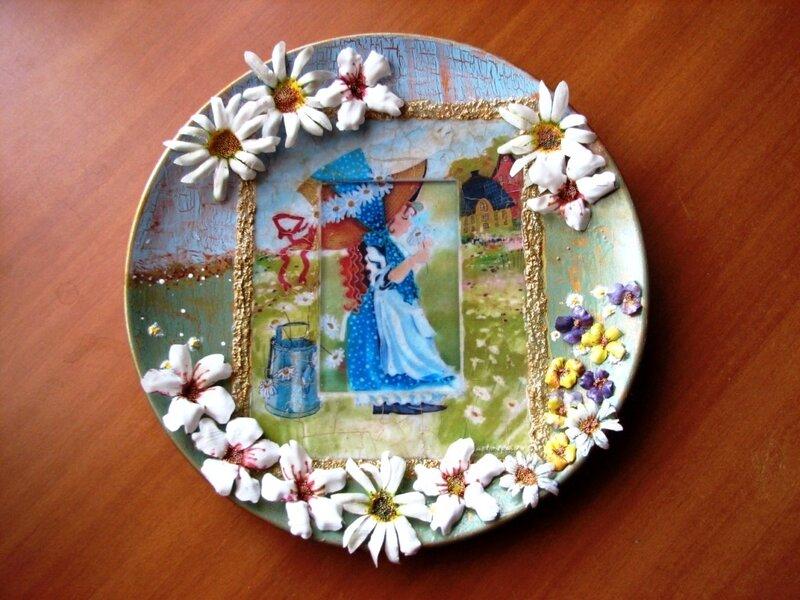 Мастер-класс «декорирование пластиковой тарелки в технике «декупаж»