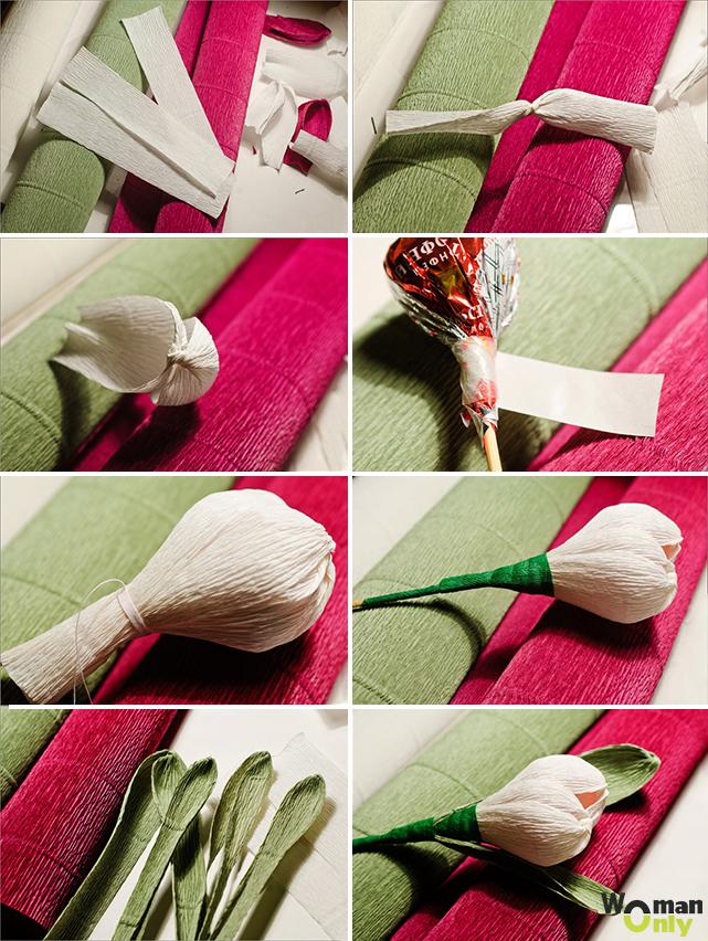 Букет из конфет — пошаговое описание для начинающих как сделать своими руками