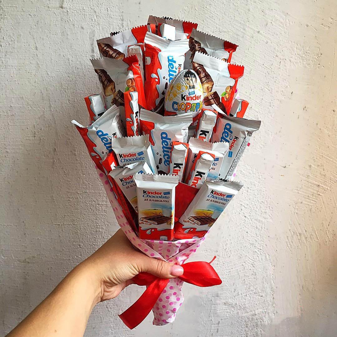 Букет из шоколадок, конфет своими руками – как сделать красиво