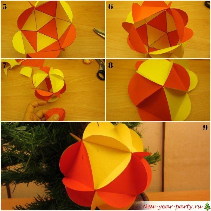 Как можно сделать мячик из бумаги. объёмный мяч из бумаги