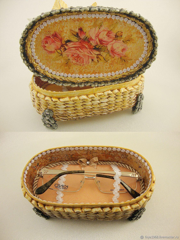 Шкатулки из газетных трубочек (26 фото): пошаговое плетение шкатулок с крышкой и без нее для начинающих, мастер-класс плетения поделки для ниток