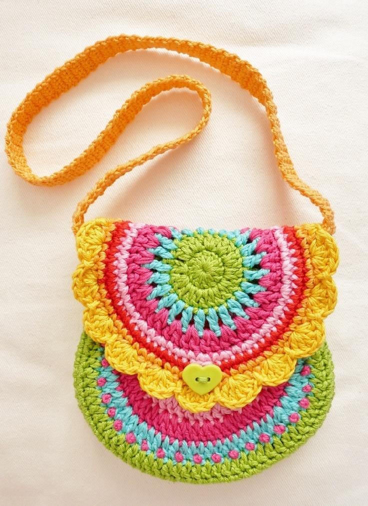 Детские вязаные сумочки - part 2