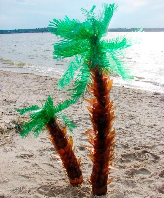 Пальма (из пластиковых бутылок) | страна мастеров