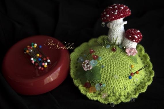 Игольница-грибок с тайничком +мк | страна мастеров
