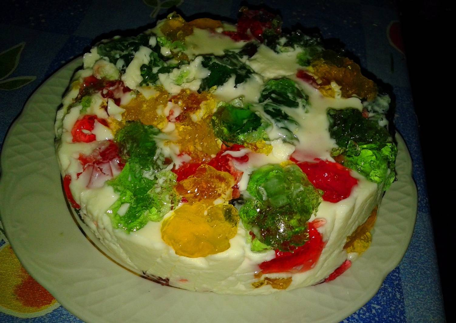 """Радужный торт """"битое стекло"""" - сладкий и веселый десерт!"""