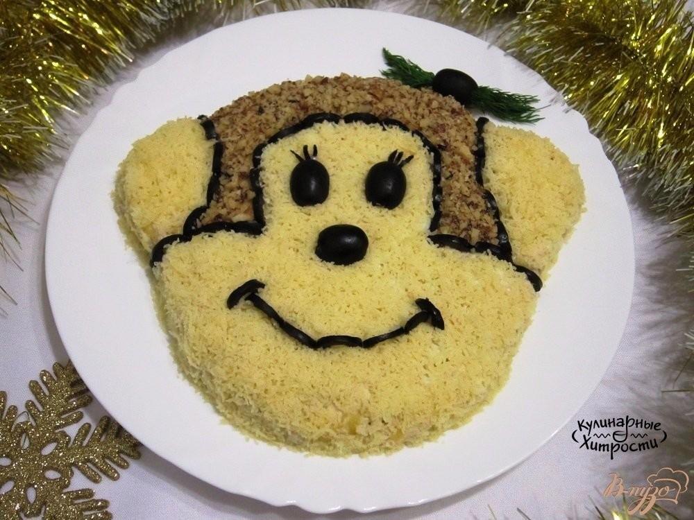 """Рецепт салата """"гламурная обезьянка""""   меню недели"""