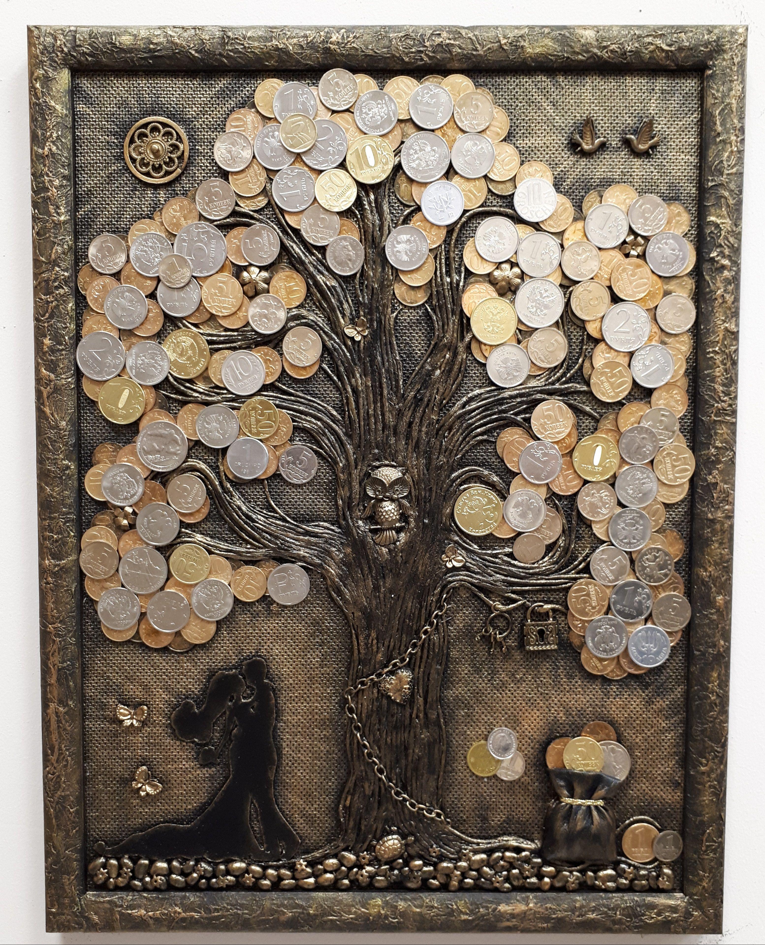 Денежное дерево из монет поможет разбогатеть