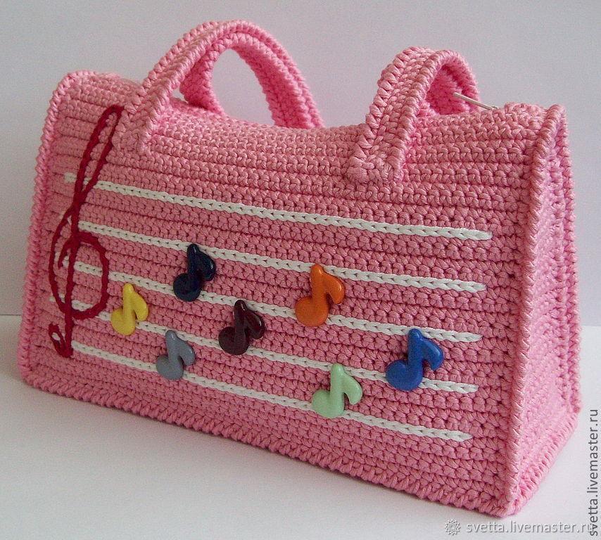 Мастер-класс по вязанию крючком сумочки для девочки