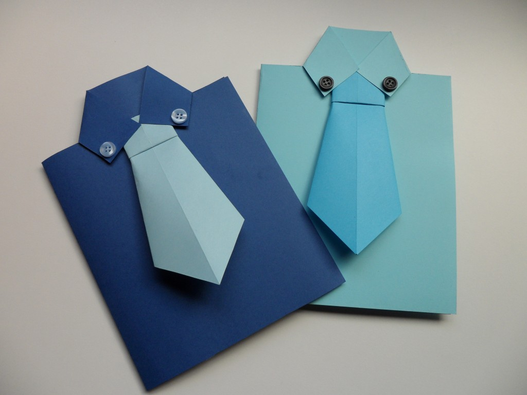Открытка рубашка с галстуком своими руками: мастер-класс