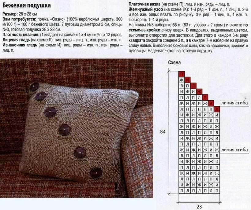 Вязаная подушка - «леди за рулём», мастер-класс мастера hand-made