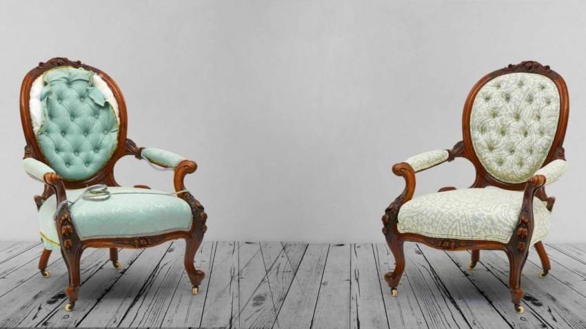 Реставрация кресла: как отремонтировать кресло с деревянными подлокотниками своими руками
