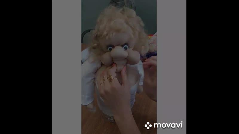 Схема изготовления куклы попика из капроновых колготок