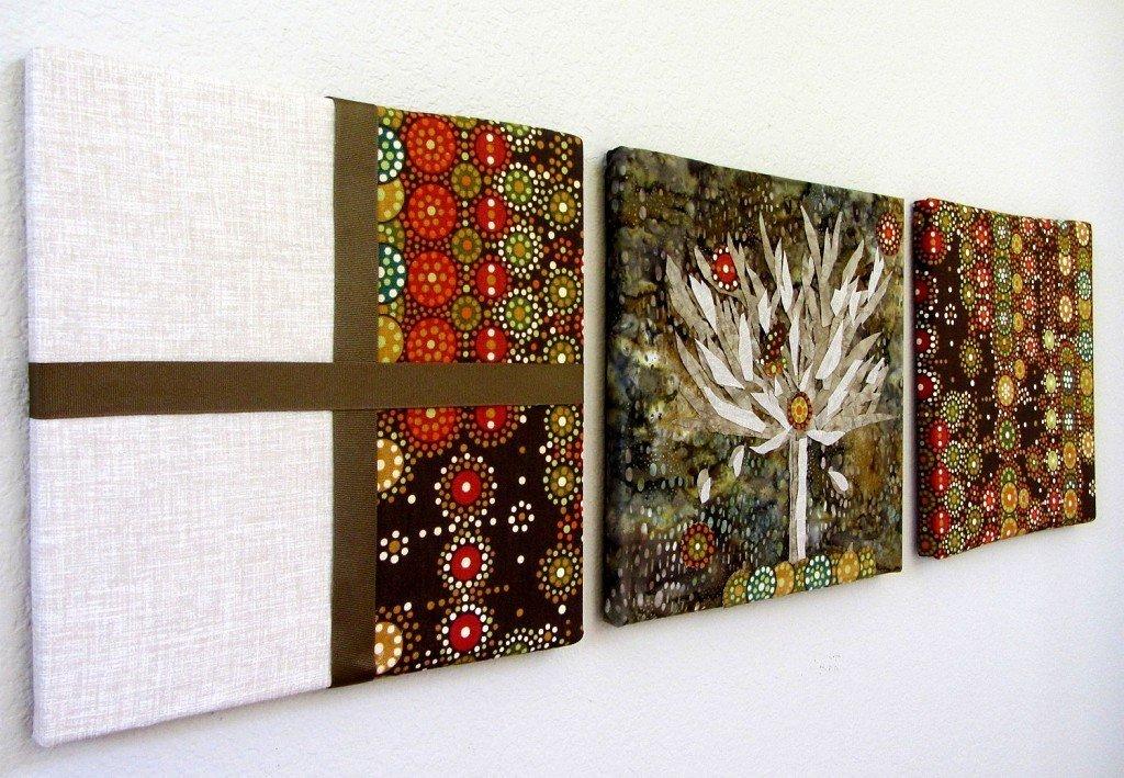 Панно на стену: варианты оформления из разных материалов