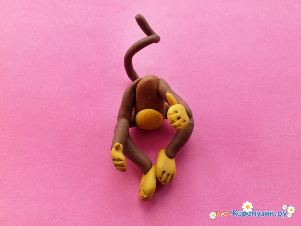 Обезьянки из пластилина | море творческих идей для детей