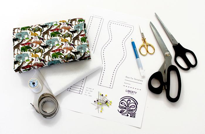 Гардероб мастер-класс шитьё шьём галстук-бабочку нитки ткань