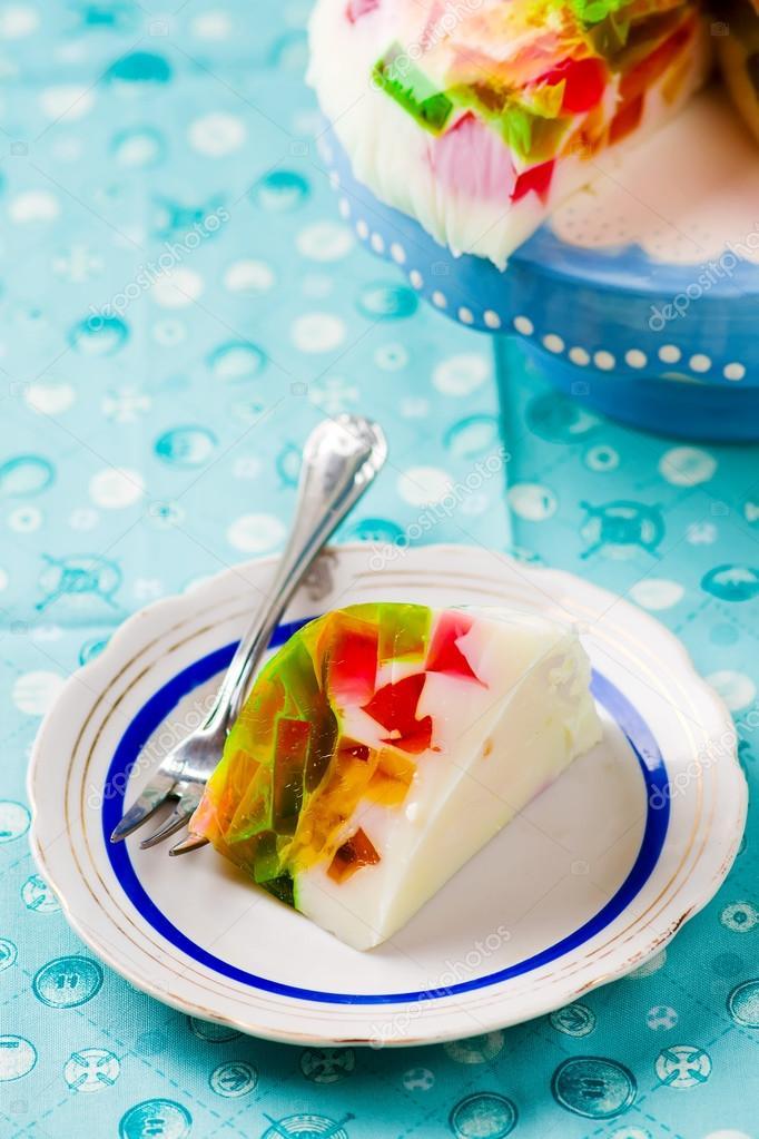 Как приготовить желейный торт битое стекло по рецепту с фото