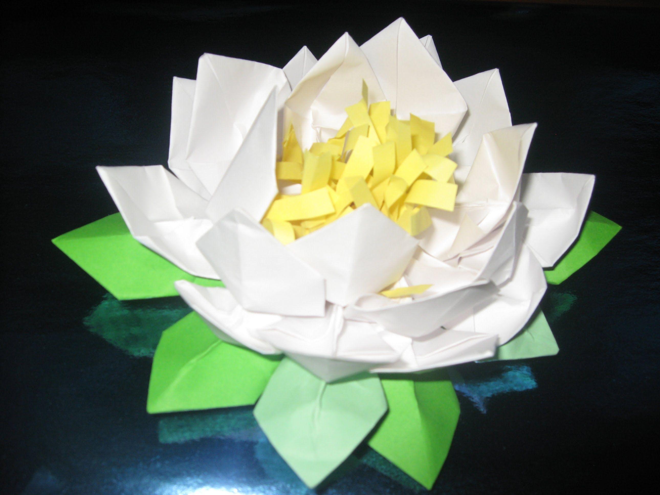 Цветы из гофробумаги: нарцисс и лотос