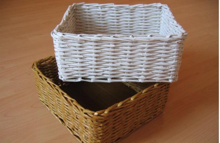 Плетение корзины из газет своими руками