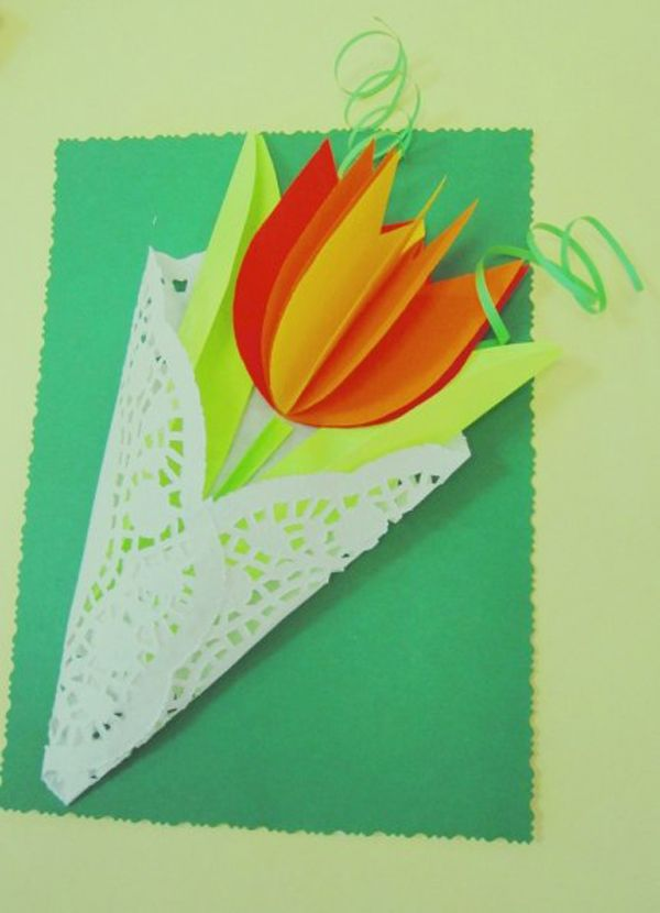18 идей для открытки с 8 марта: делаем вместе с детьми!