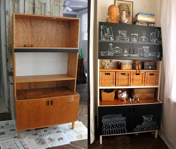 Переделка мебели своими руками: старая стенка, комод, стол, тумбочка, фото-идеи