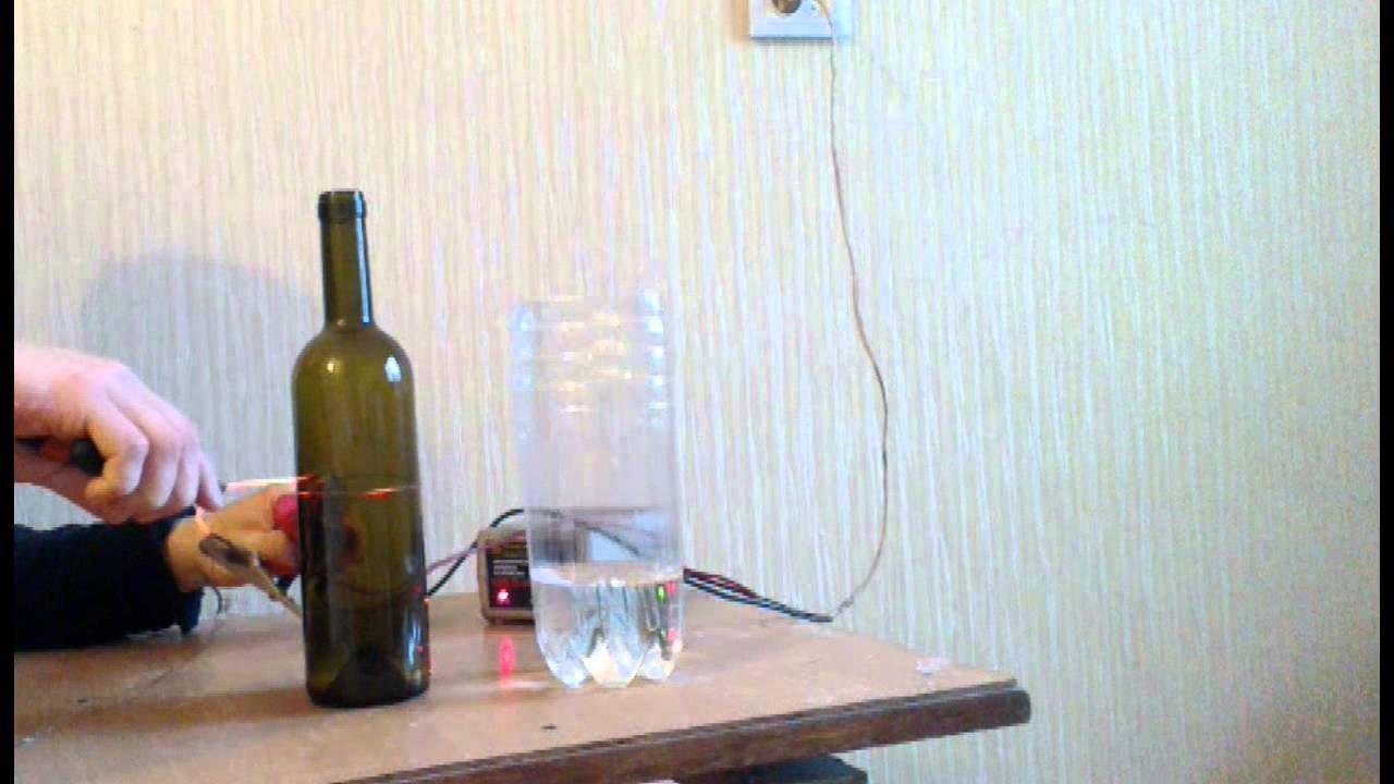Как быстро разрезать стеклянную бутылку в домашних условиях