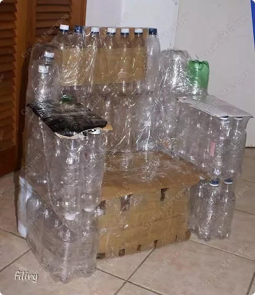 Сделать кровать из пластиковых бутылок. мастер-класс по мебели из пластиковых бутылок своими руками с видео