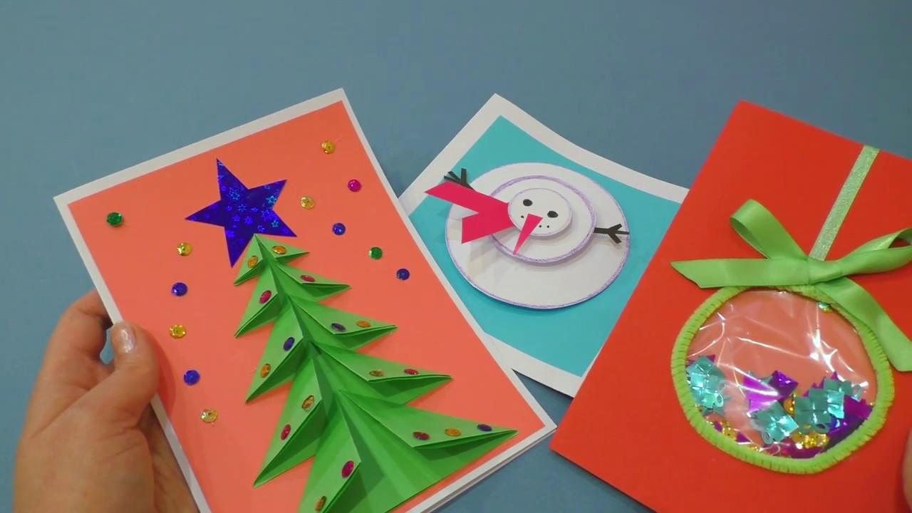 Новогодние открытки своими руками: как сделать в школу и садик на новый год 2020  | все о рукоделии