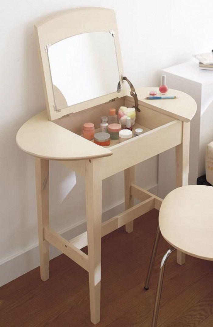 Как сделать туалетный столик своими руками с зеркалом, подсветкой: фото, видео