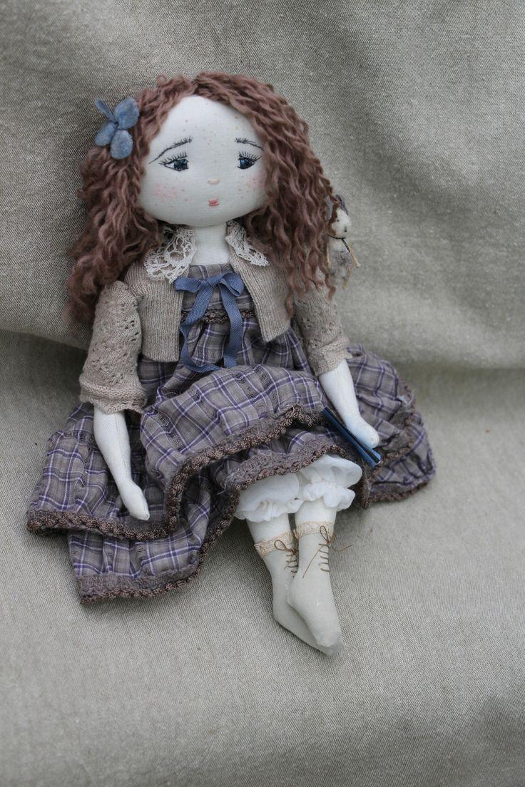 Тряпичная кукла алина — своими руками