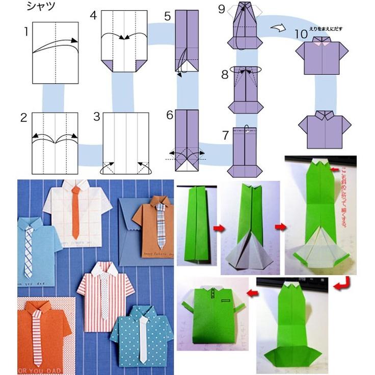Открытка-рубашка с галстуком своими руками - serviceyard-уют вашего дома в ваших руках.