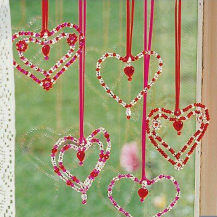 Гирлянда из теплых сердец ко дню всех влюбленных — своими руками