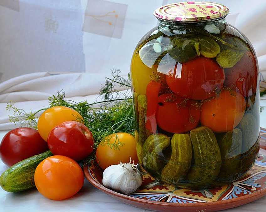 Мастер-класс консервированные огурцы с томатами
