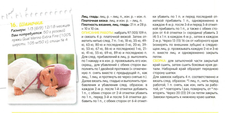 Шапочки для новорожденных (10 фото) описание и схемы вязания спицами