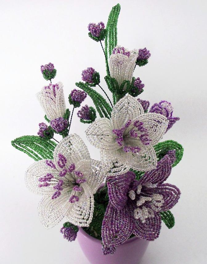 100 лучших идей: цветы из бисера своими руками на фото