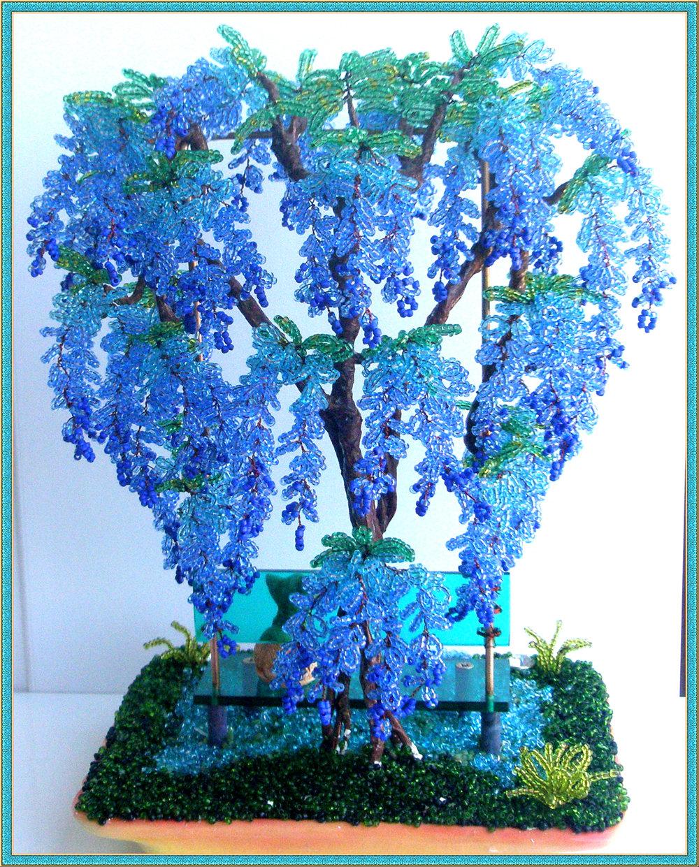 Дерево из бисера для начинающих, мастер-класс с фото